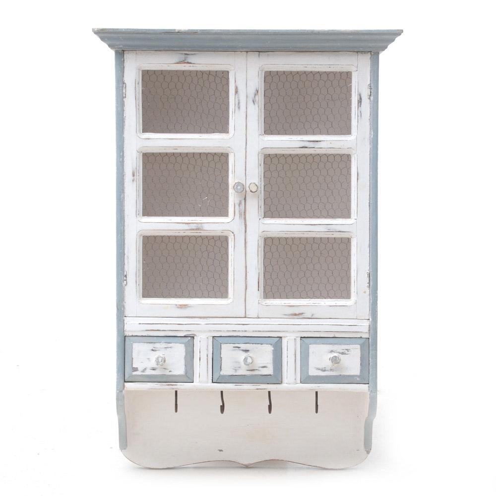 Wall Mount Rustic Kitchen Cupboard