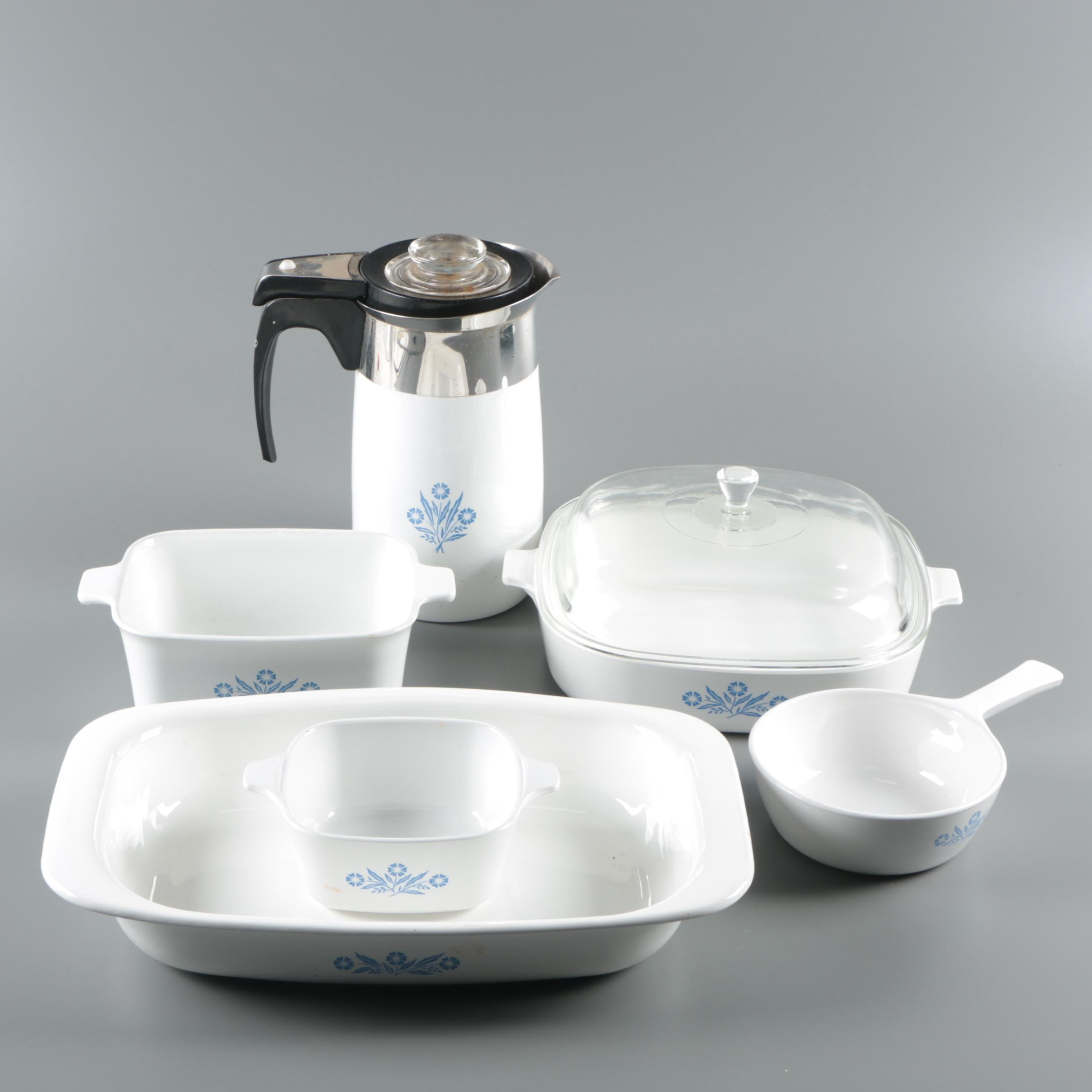 "Vintage CorningWare ""Cornflower Blue"" Bakeware and Serveware"
