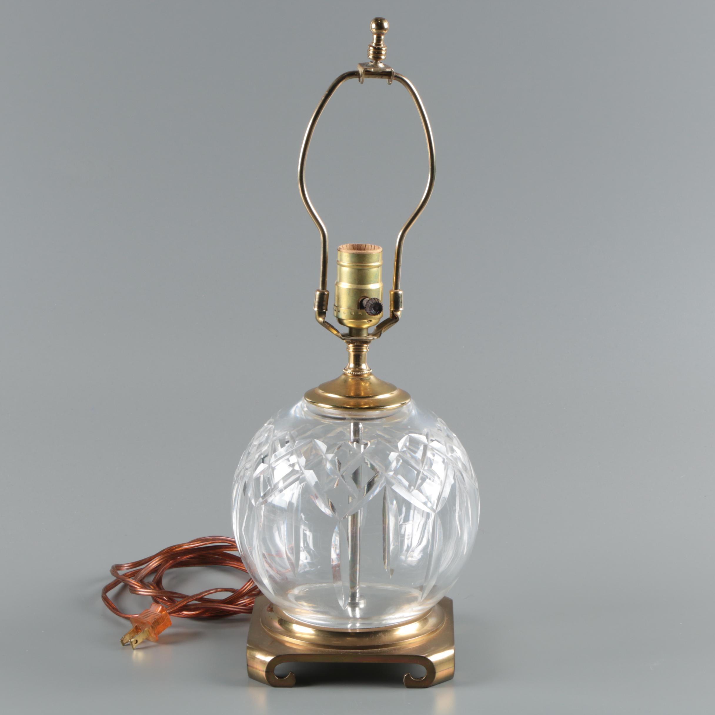 Waterford Crystal Lismore Rose Bowl Table Lamp Ebth