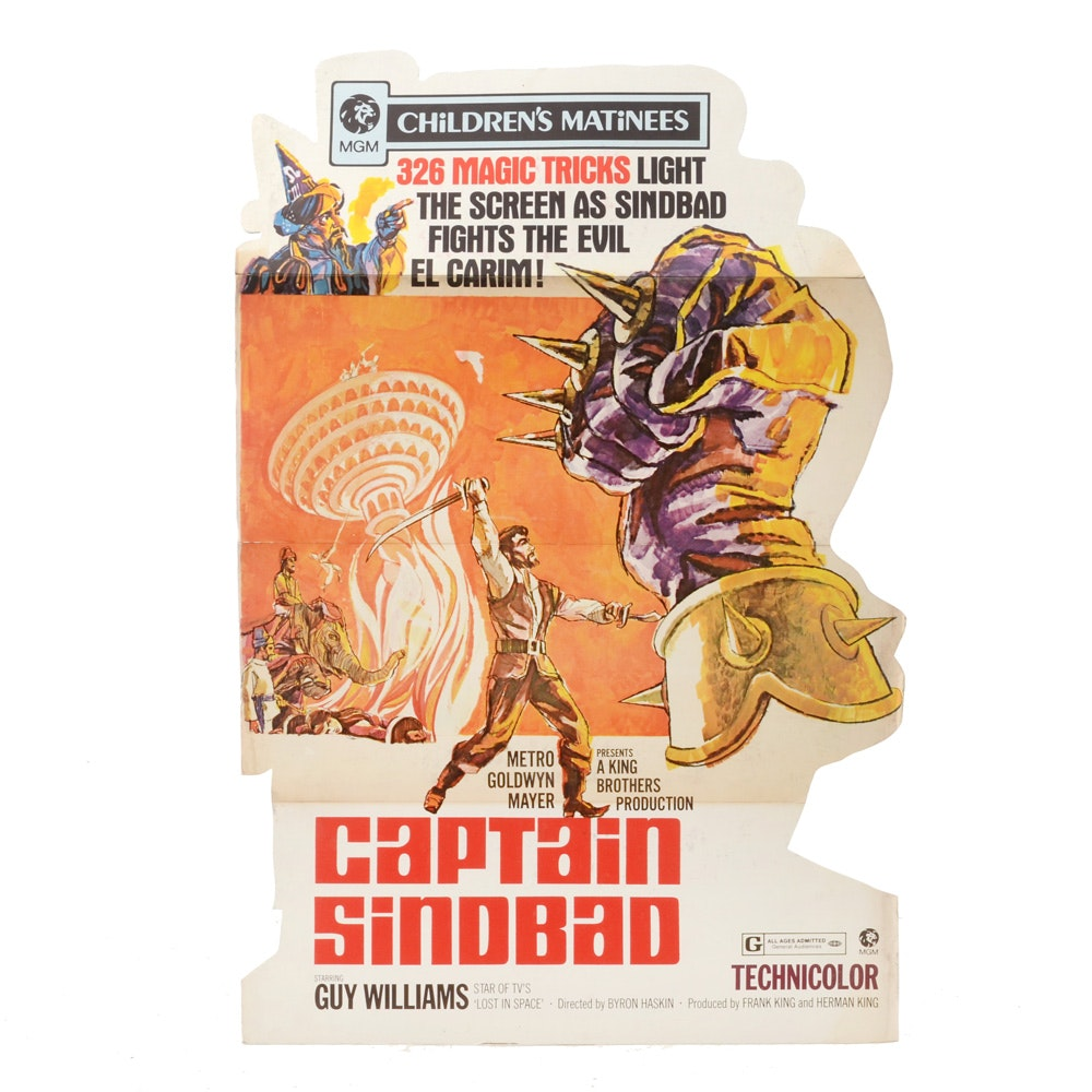 """Vintage Stand-Up Movie Advertisement for """"Captain Sinbad"""""""