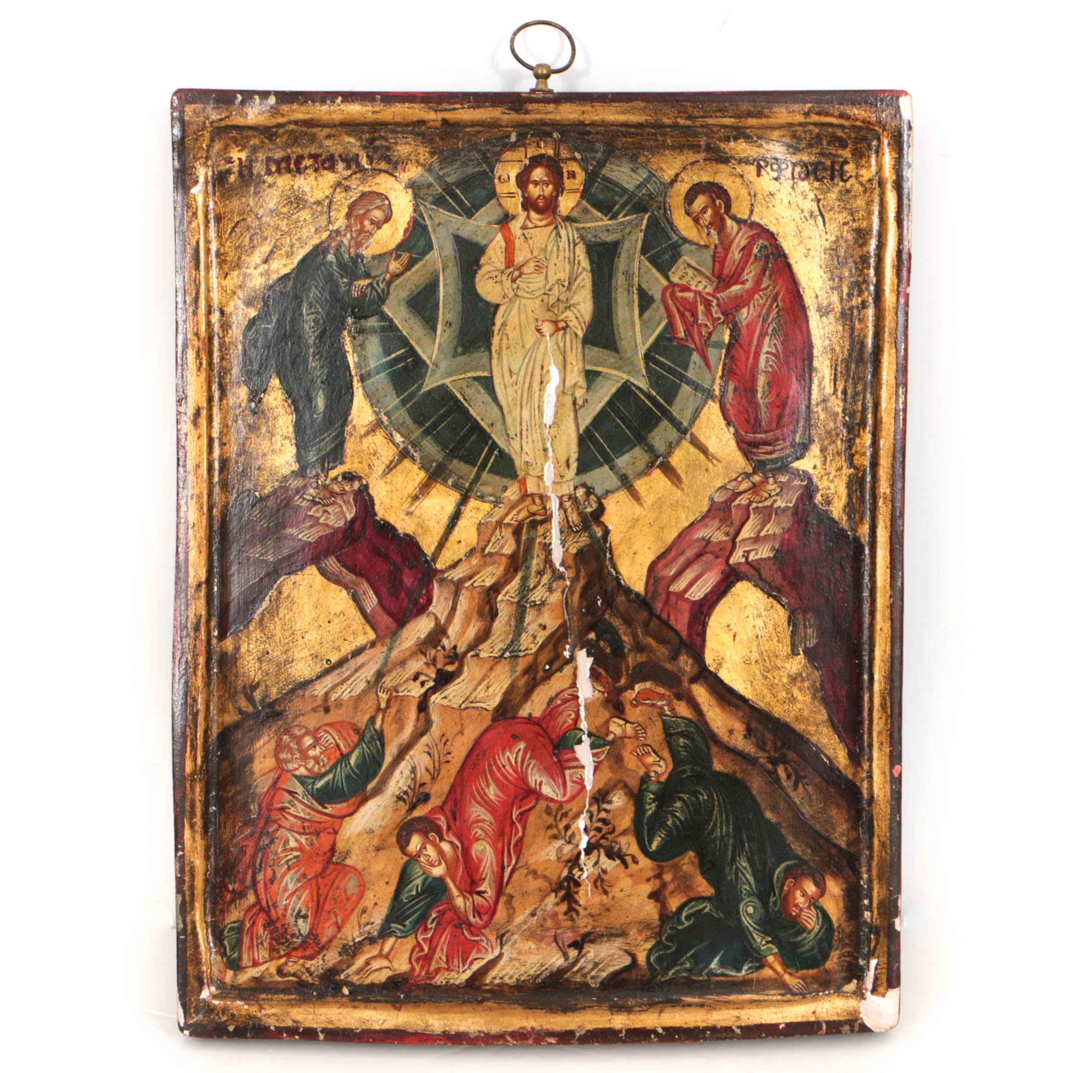 Antique Eastern Orthodox Icon of the Transfiguration