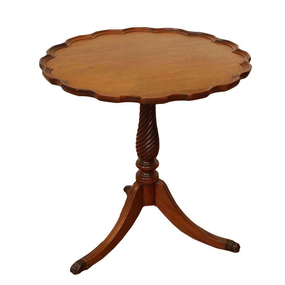 Vintage Pie Crust Tea Table