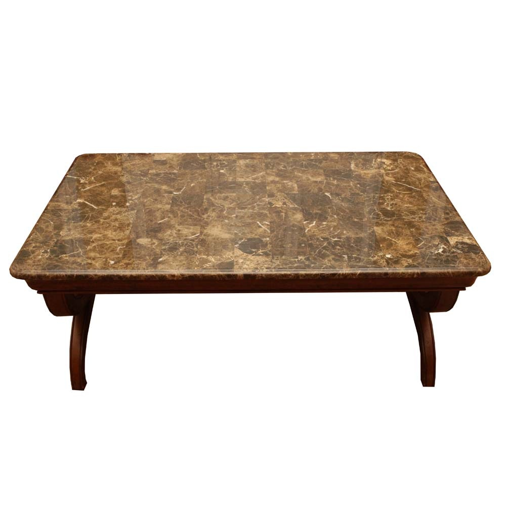 Vanguard Faux Marble Coffee Table