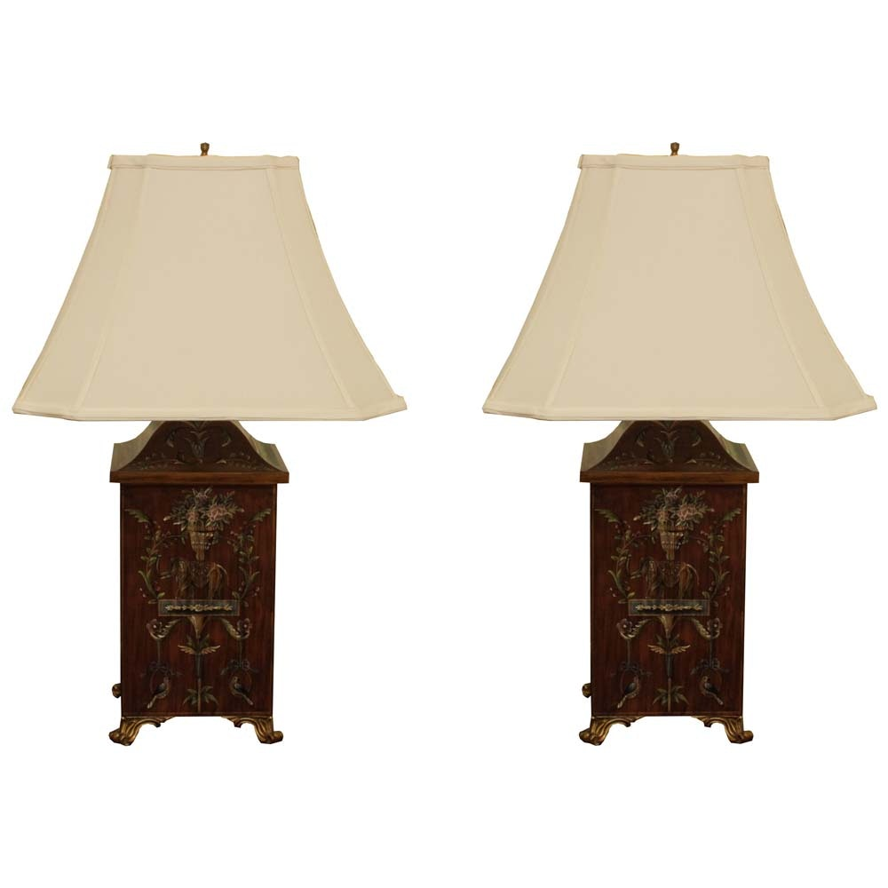 Pair of Decorative Footed Table Lamps