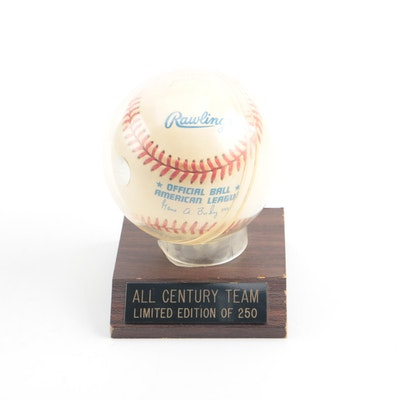 5427a337b1f Multi-Autographed Baseball Including Stan Musial