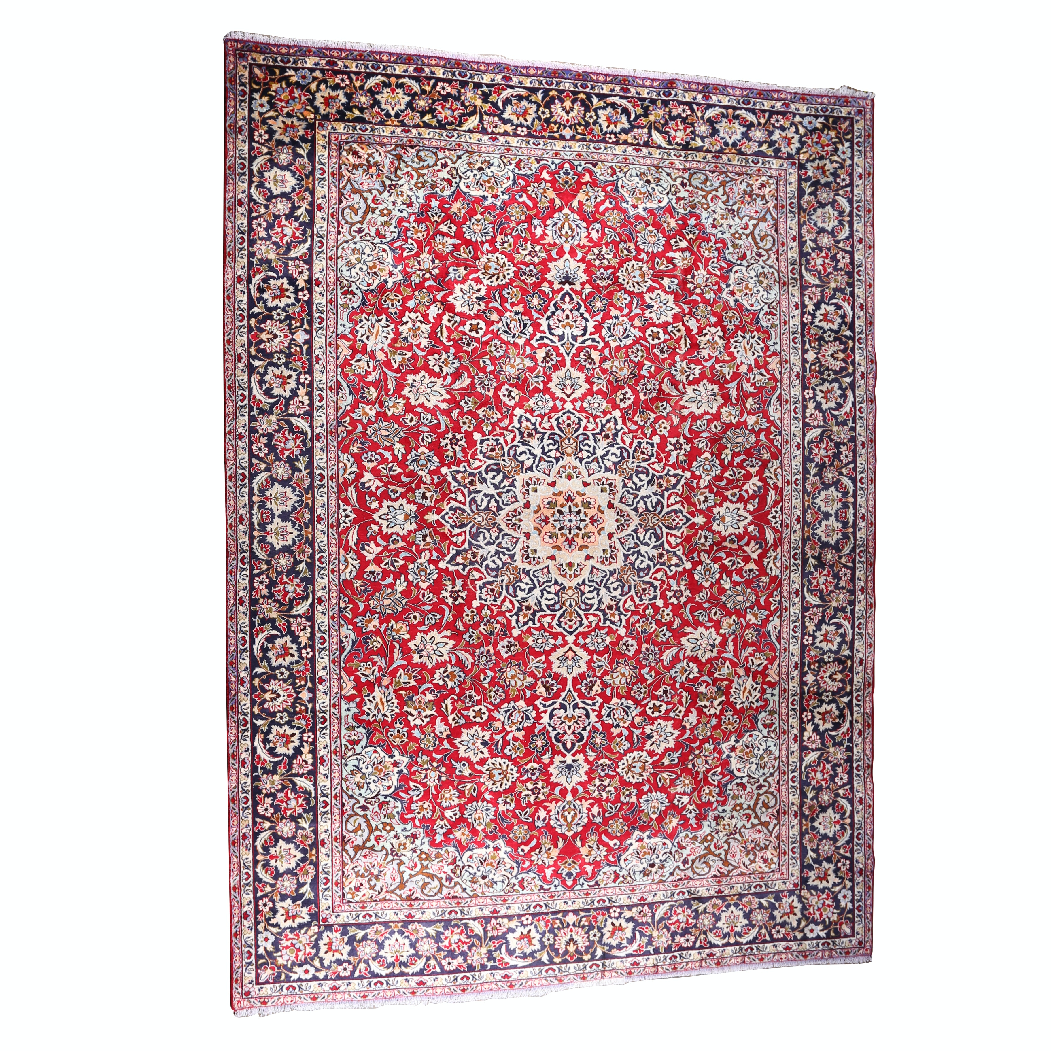 Hand-Knotted Persian Isfahan Room Size Wool Rug