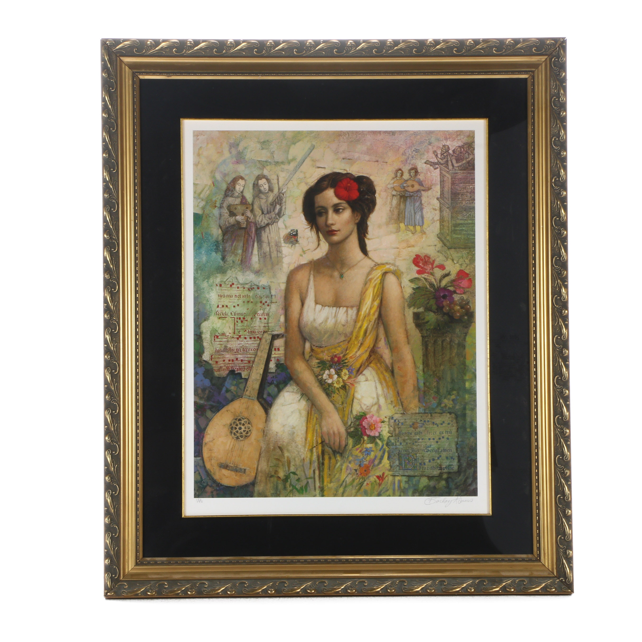 "Barclay Adams Signed Limited Edition Offset Lithograph ""Judith"""