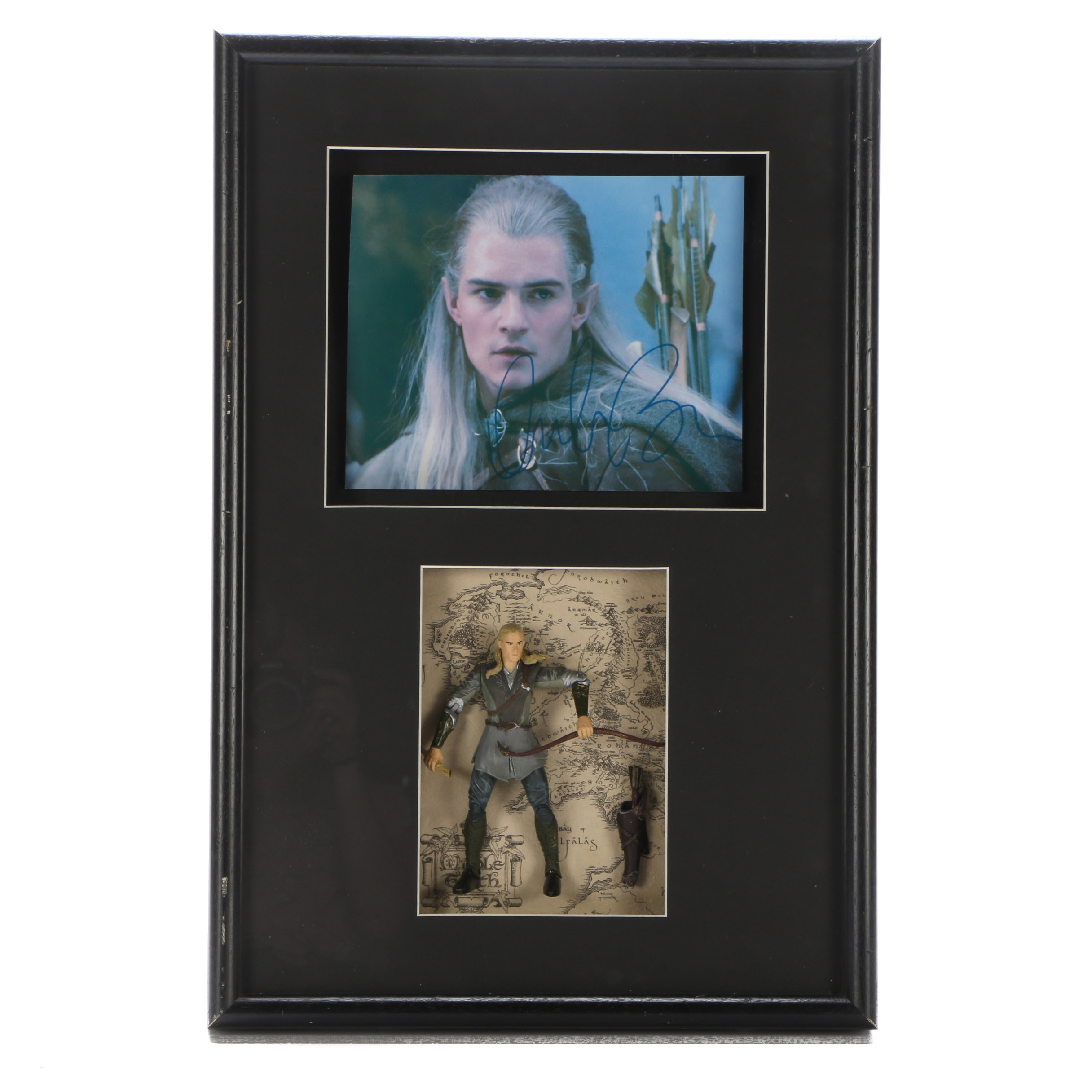 "Orlando Bloom Signed ""Lord Of The Rings"" Display"