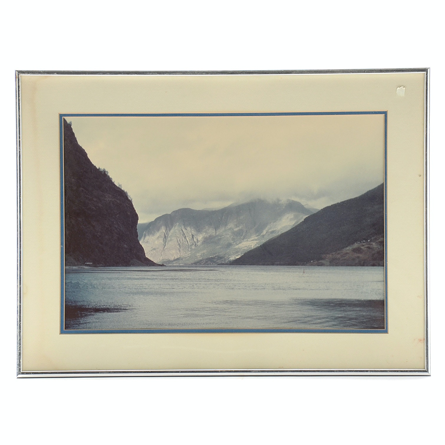 Framed Photo of Mountains and Water