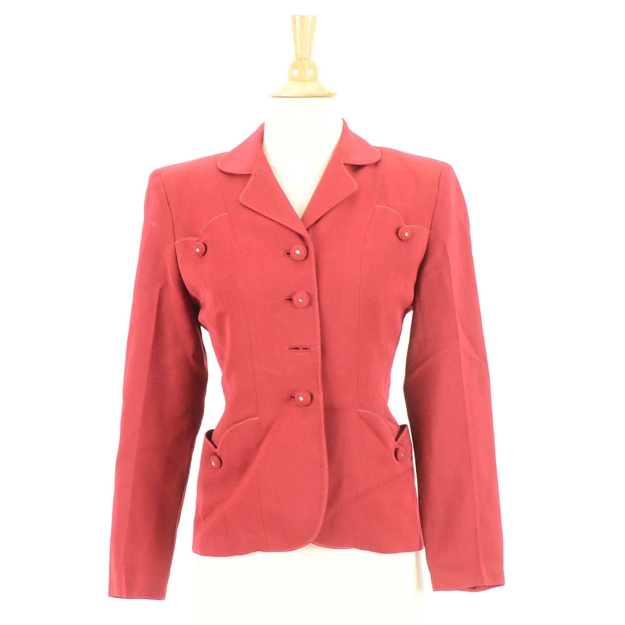 1940s Vintage Red Blazer