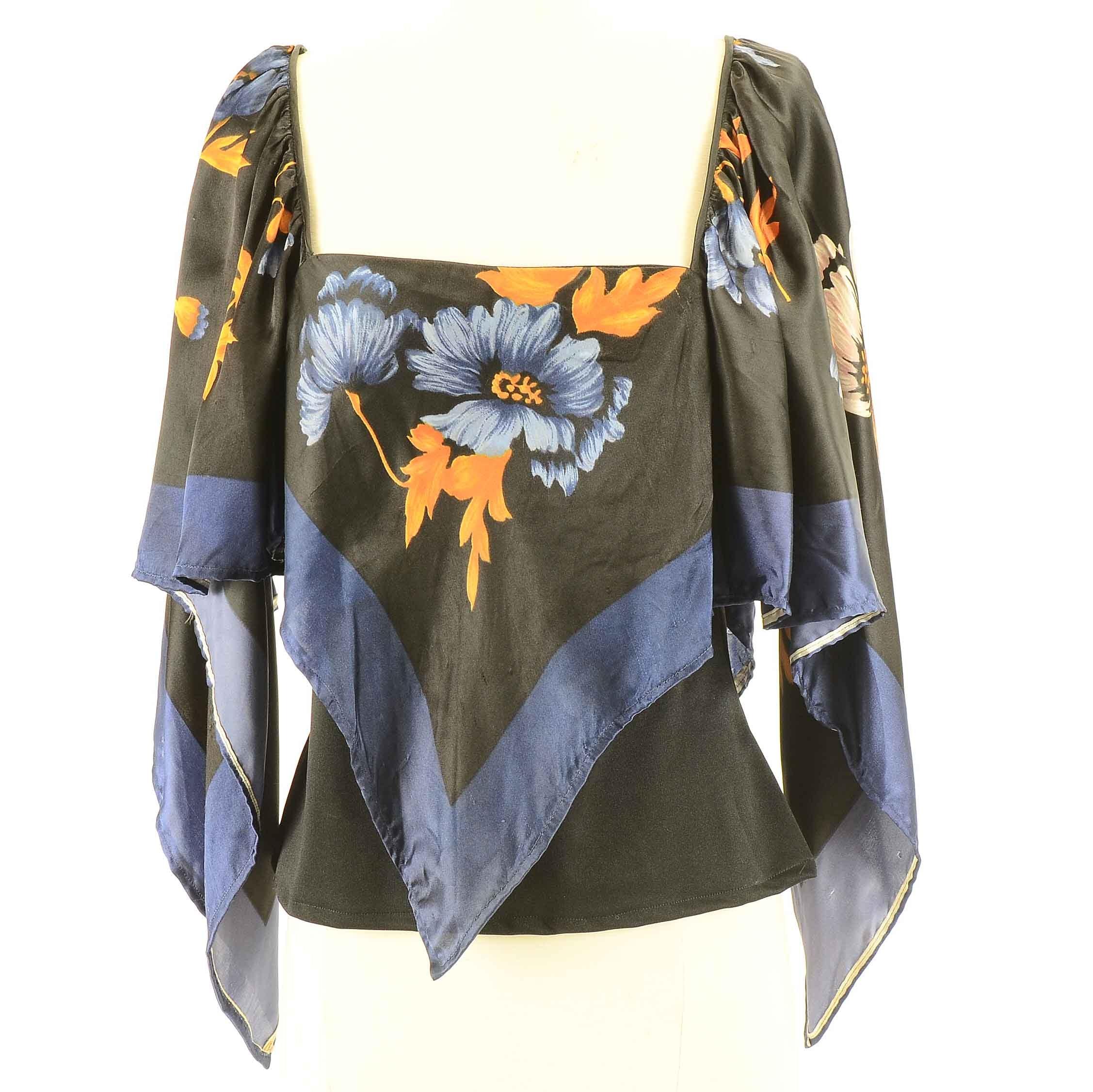 1970s Vintage Handkerchief Blouse