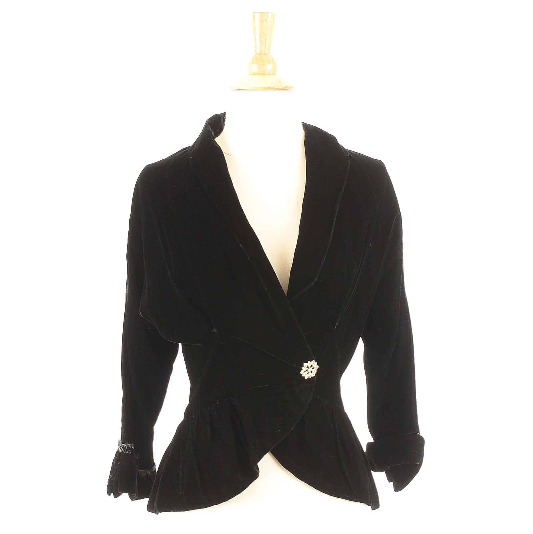 Early 20th Century Black Velvet Jacket