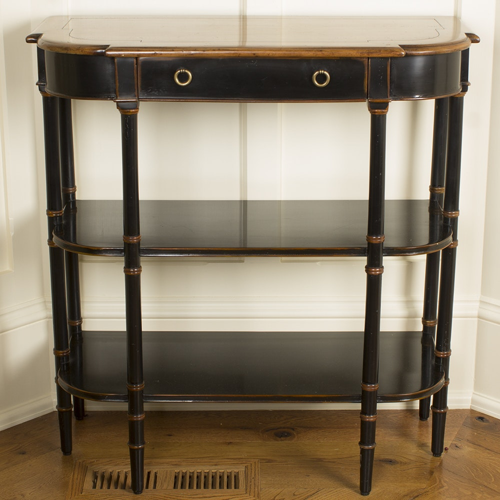 Vintage Regency Style Demilune Console Table by Theodore Alexander