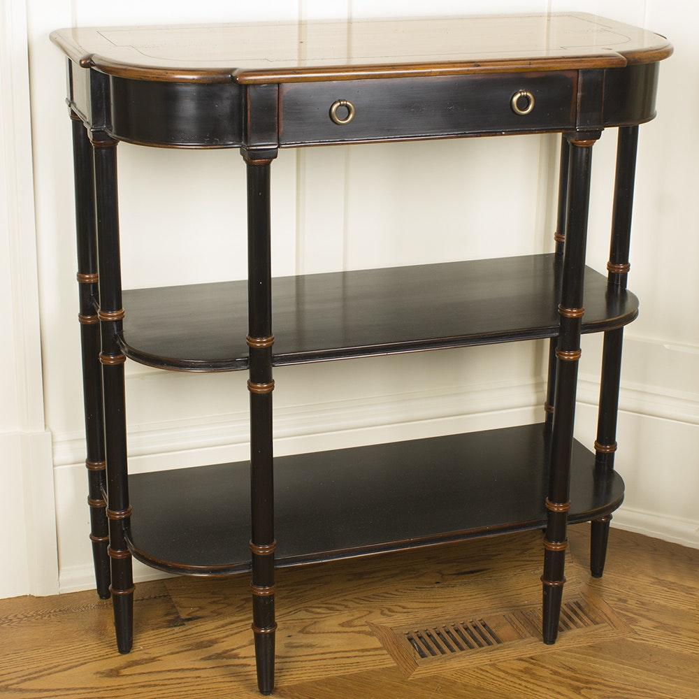 Vintage Regency Style Demilune Console Table
