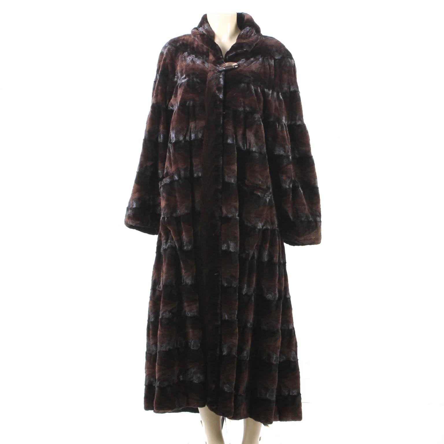 Leakas Furs Sheared Beaver Coat