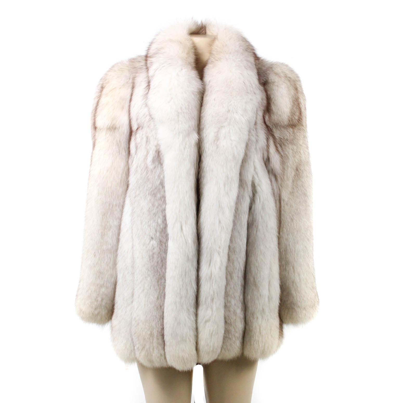 Bill Blass Furs Blue Fox Fur Stroller