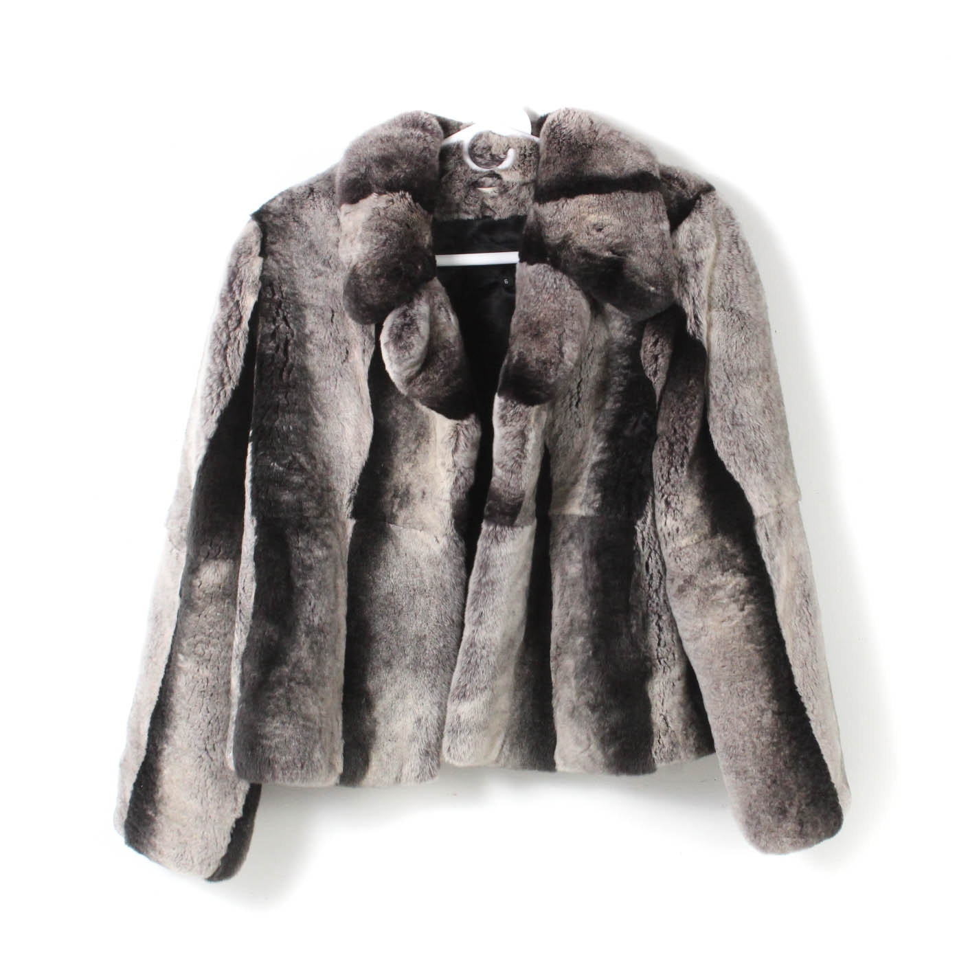 Chinchilla Dyed Sheared Rex Rabbit Fur Jacket