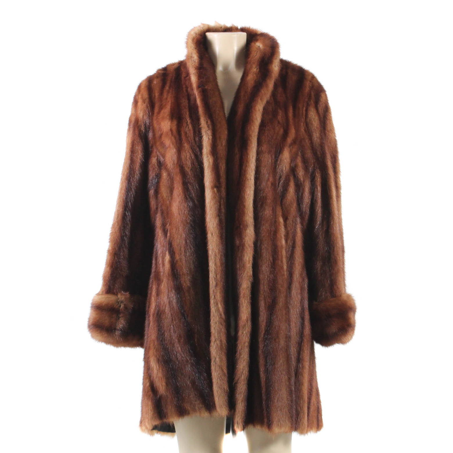 Vintage Dyed Mink Fur Coat
