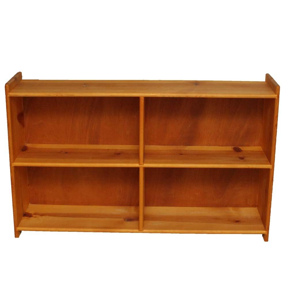 Contemporary Pine Horizontal Bookcase