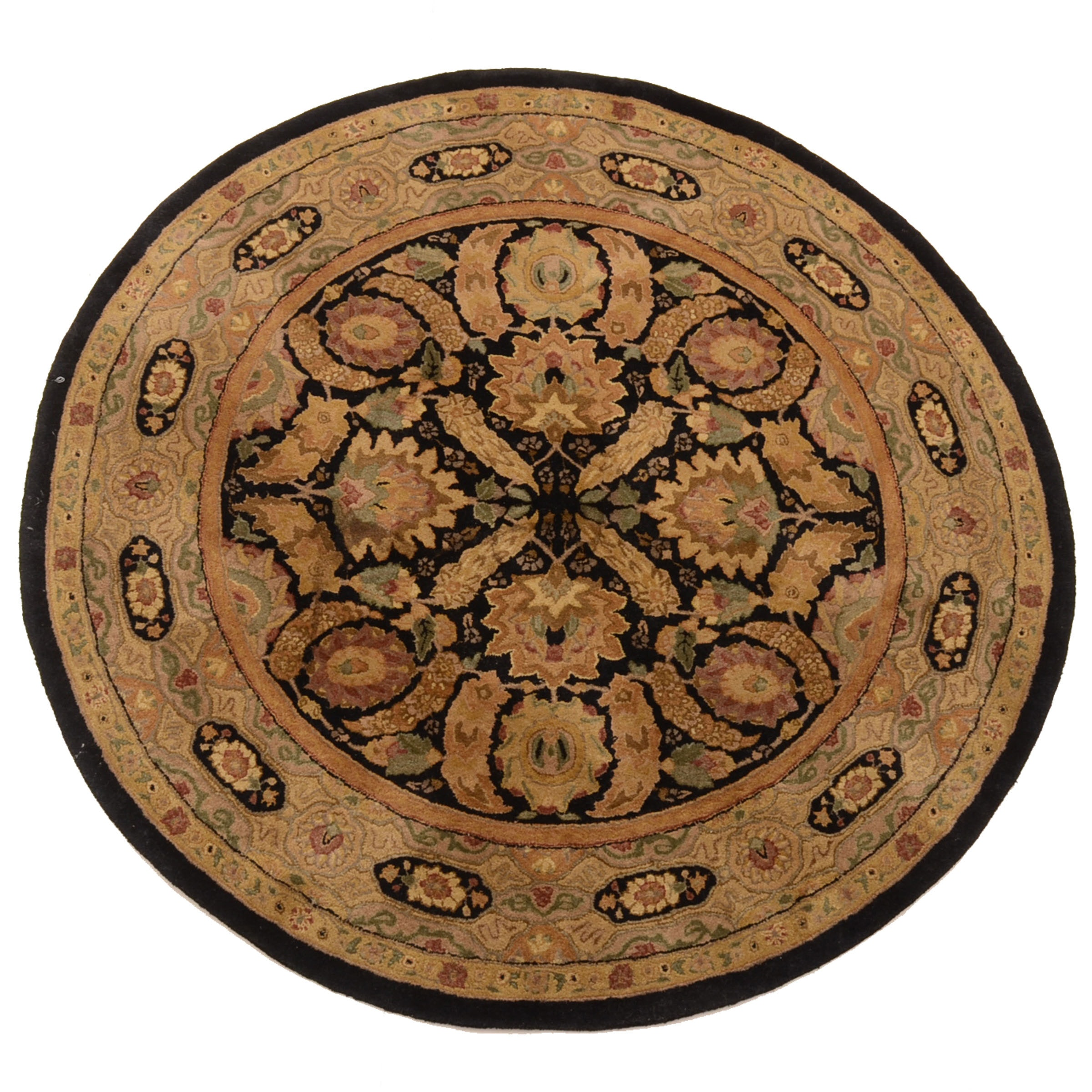 "Tufted Indian ""Polonaise"" Round Area Rug by Capel"