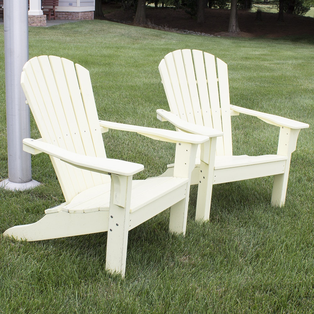 Yellow Painted Adirondack Chairs by Seaside Casual Furniture Company
