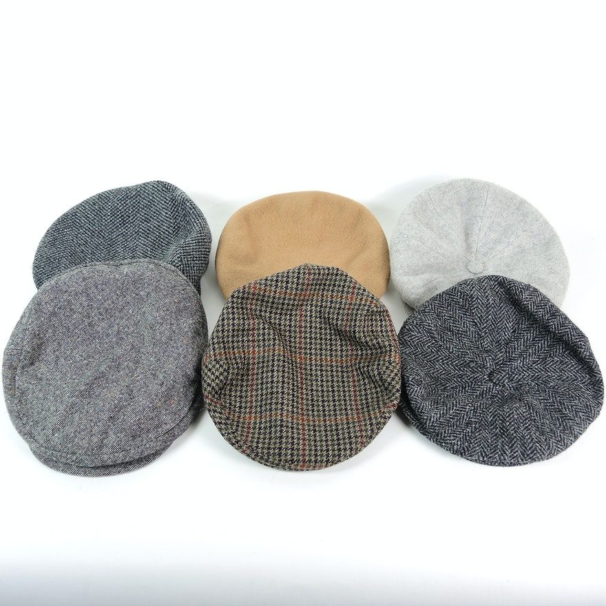Men s Lock   Co. Hatters Fairway Tweed and Other Wool Flat Caps   EBTH 53a017def509