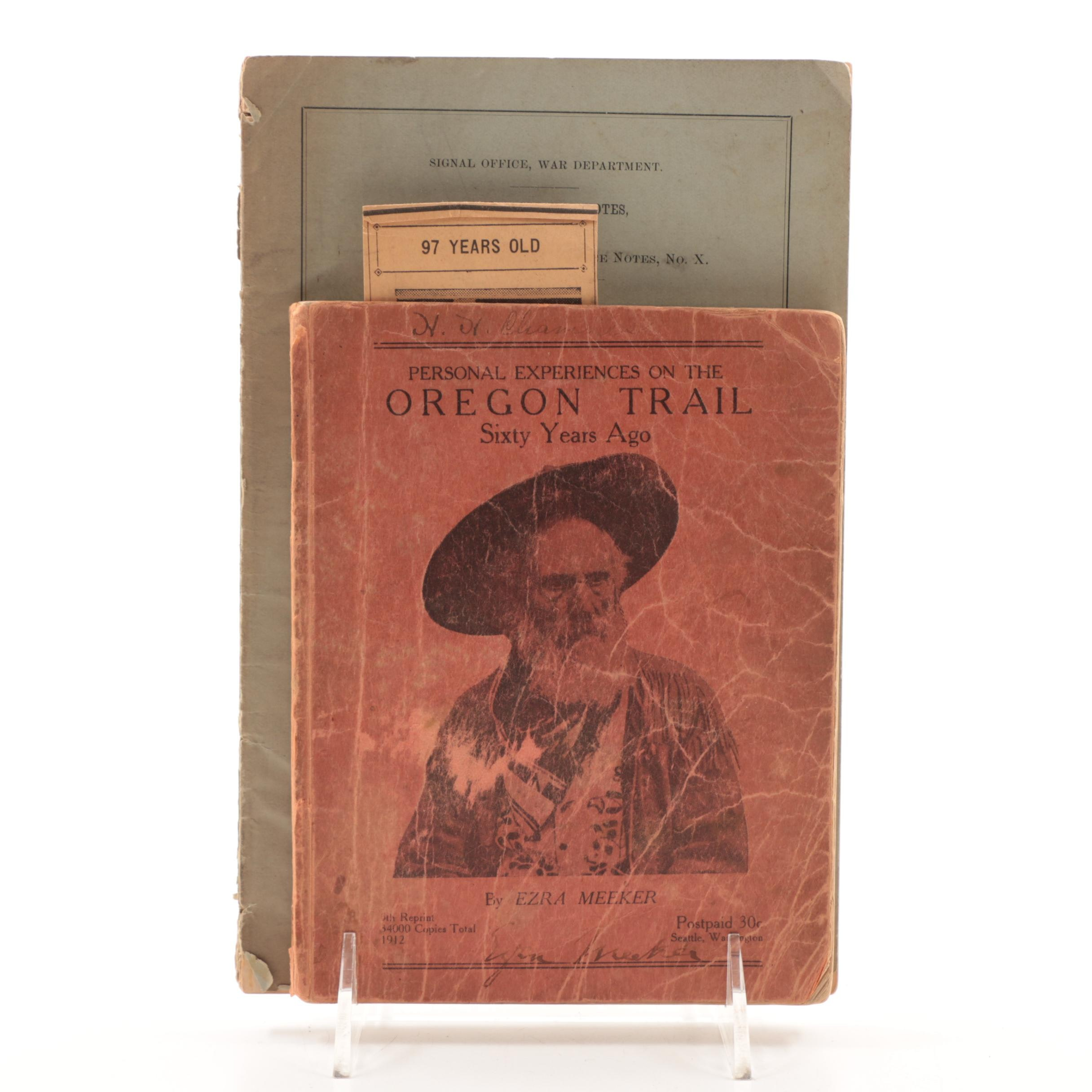 Lady Franklin Bay Expedition and Oregon Trail Exploration Pamphlets