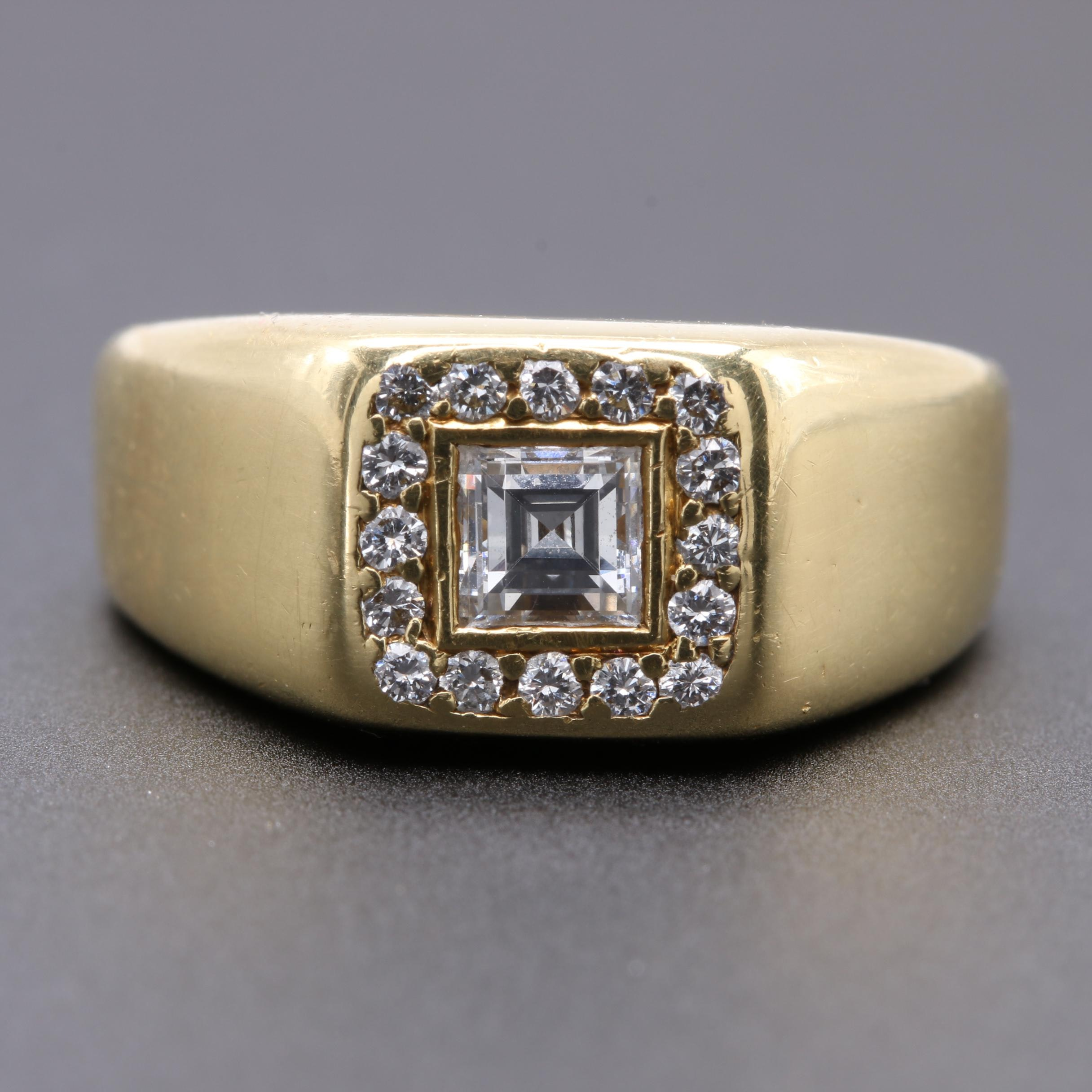 Kurt Wayne Designer 18K Yellow Gold Diamond Ring