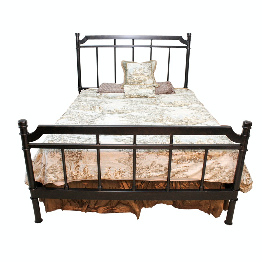Queen Size Oil Rubbed Bronze Metal Bed Frame Ebth