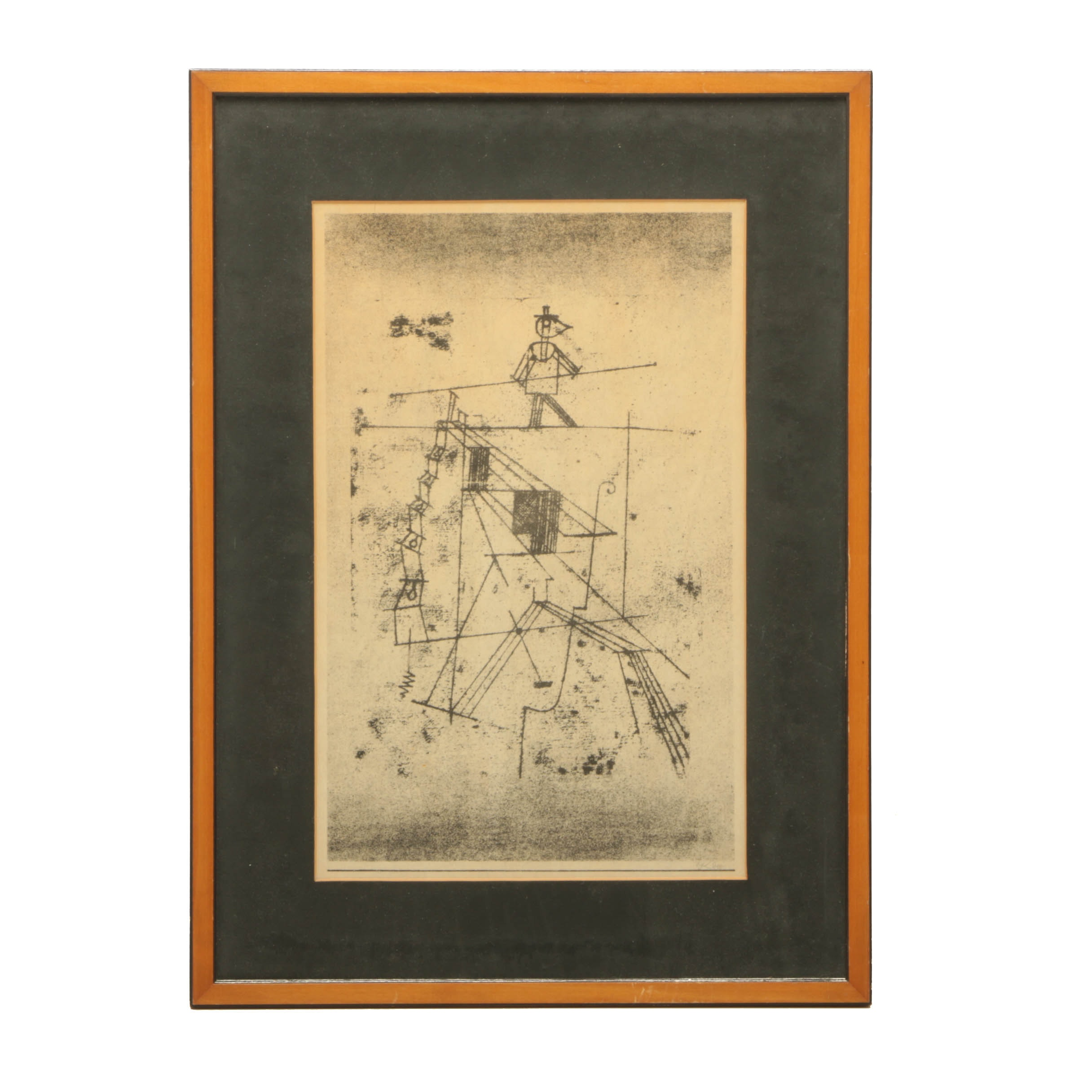 """Reproduction Lithograph after Paul Klee """"Seiltänzer (Tightrope Walker)"""""""
