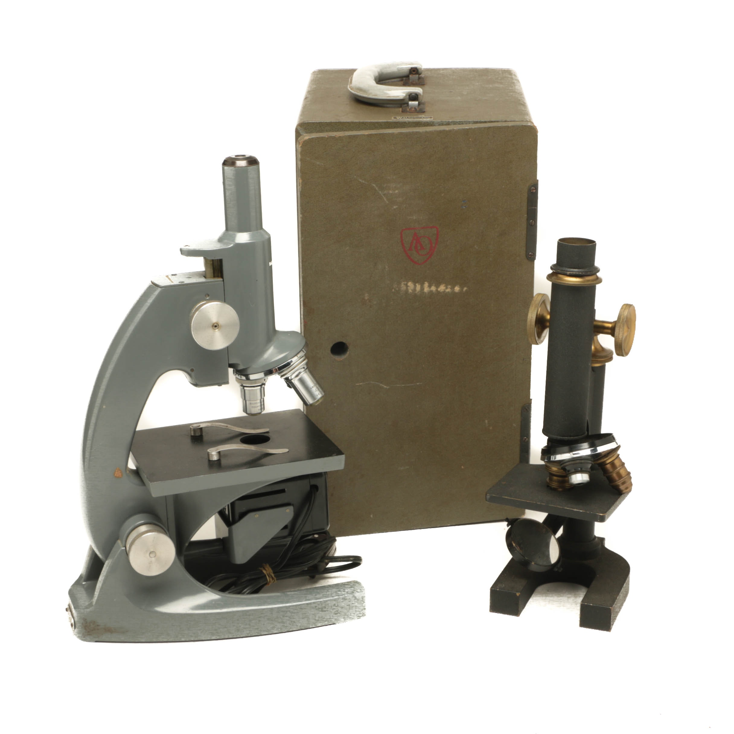 Vintage Bausch and Lomb Microscope and American Optical Microscope