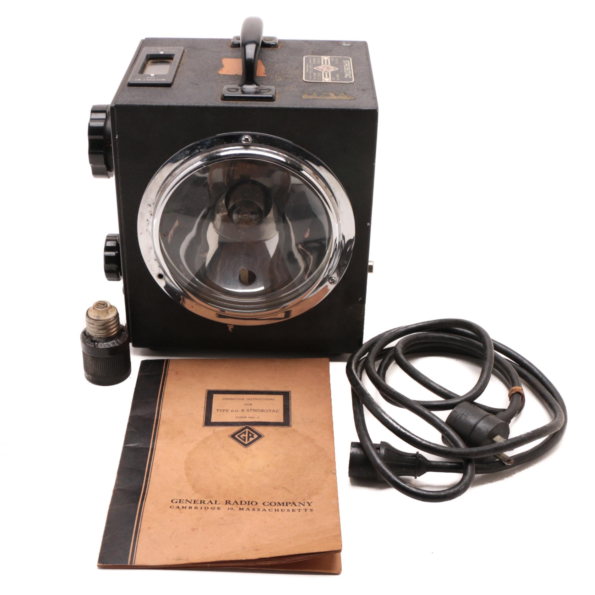 Circa 1940 Strobotac 631-B Stroboscopic Tachometer