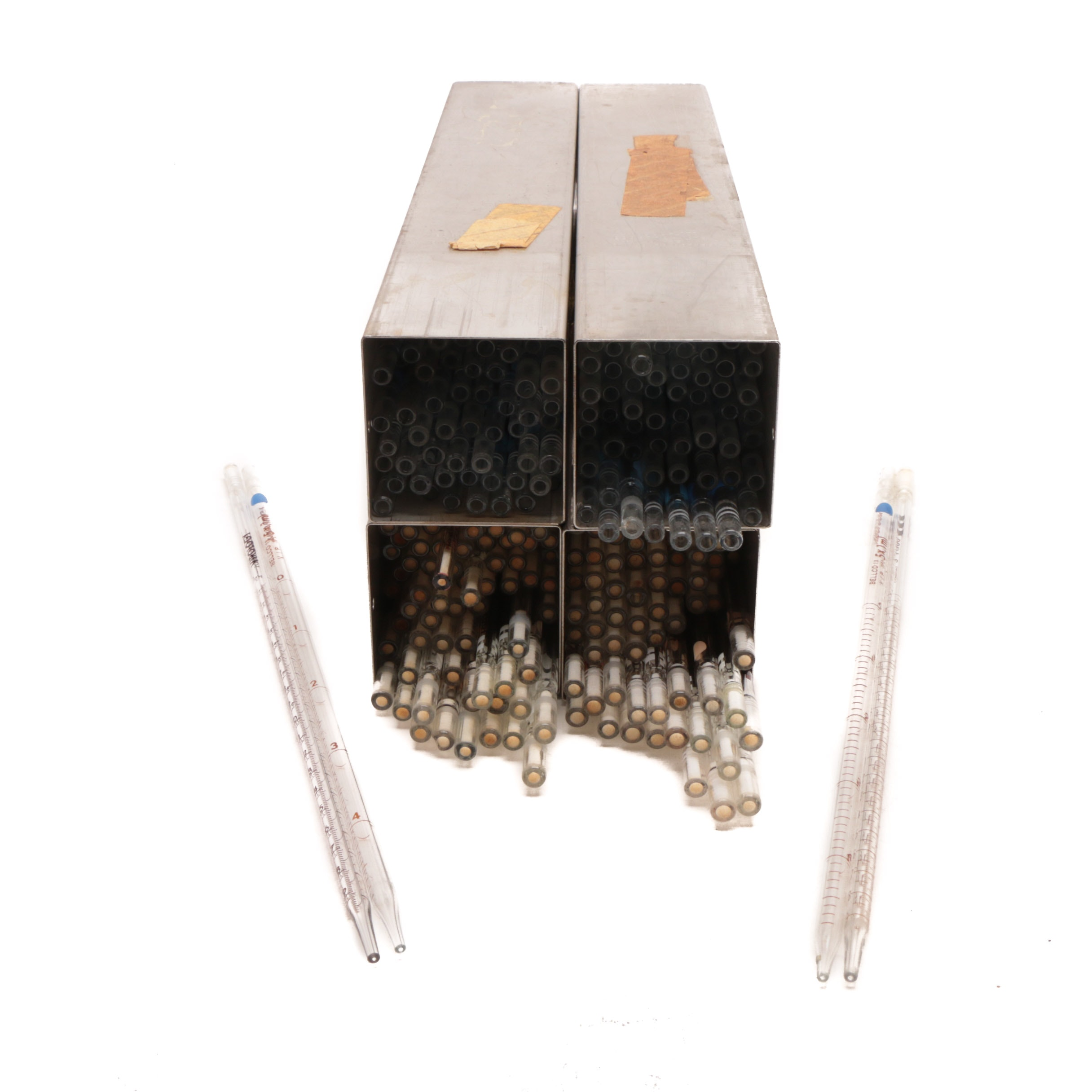 Vintage Bellco and Schiff Graduated Volumetric Glass Pipettes