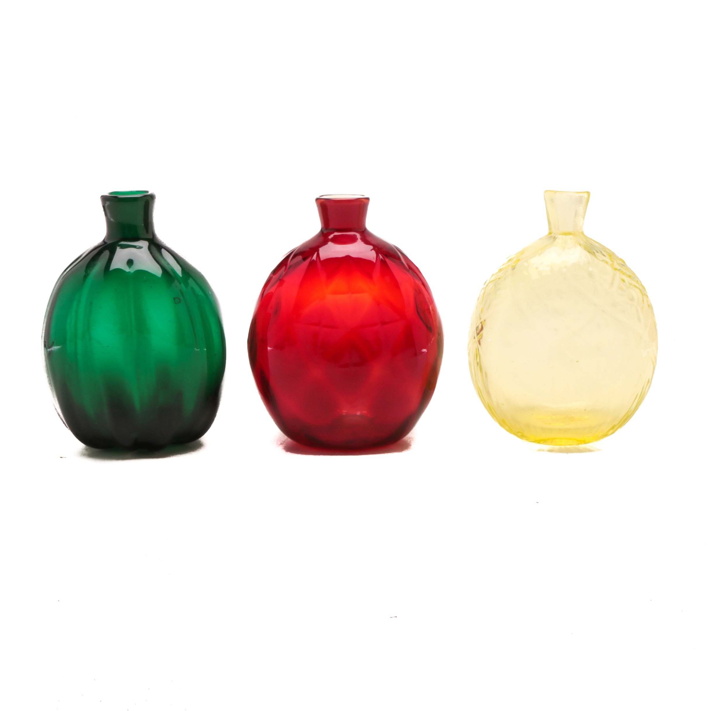 Collection of Hand Blown Glass Bottles by the Museum of Modern Art