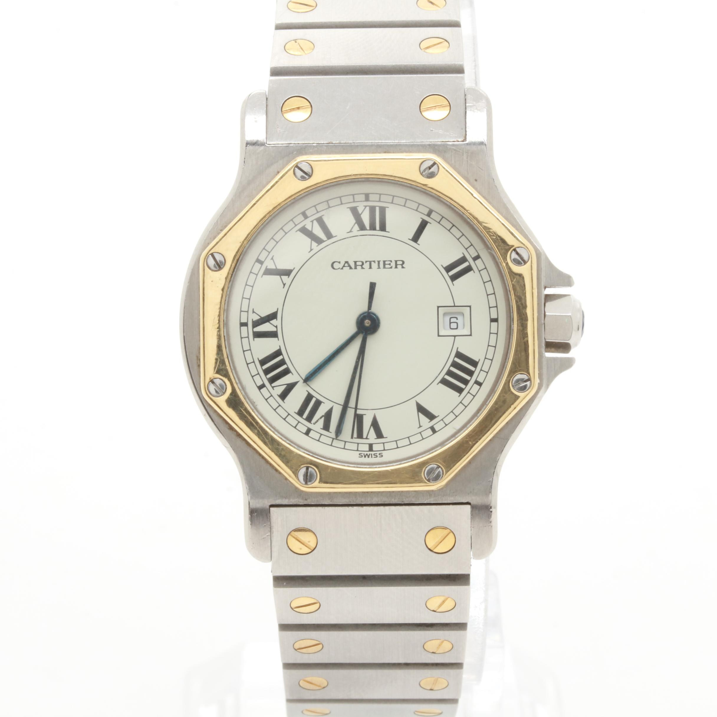 Cartier Stainless Steel and 18K Yellow Gold Wristwatch