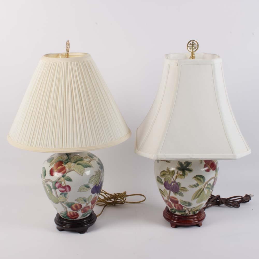 Hand Painted Ceramic Urn Table Lamp