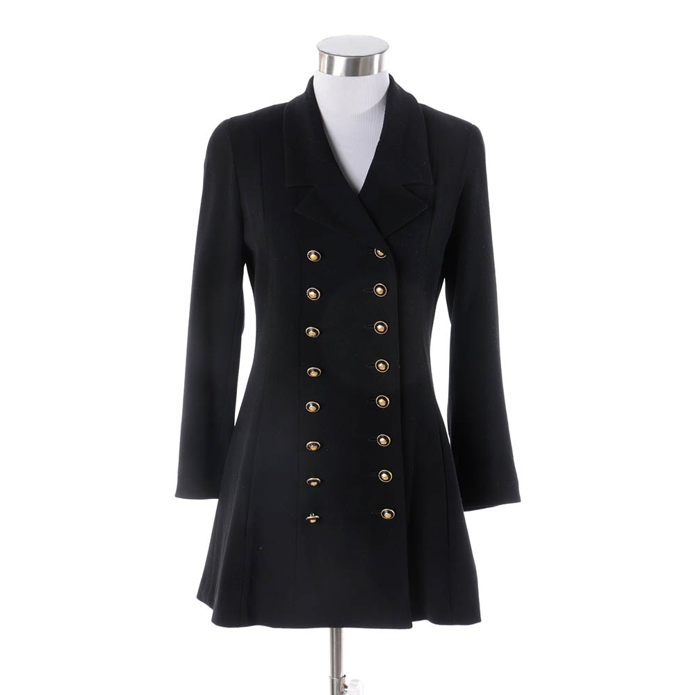 Women's Chanel Boutique Black Double-Breasted Jacket