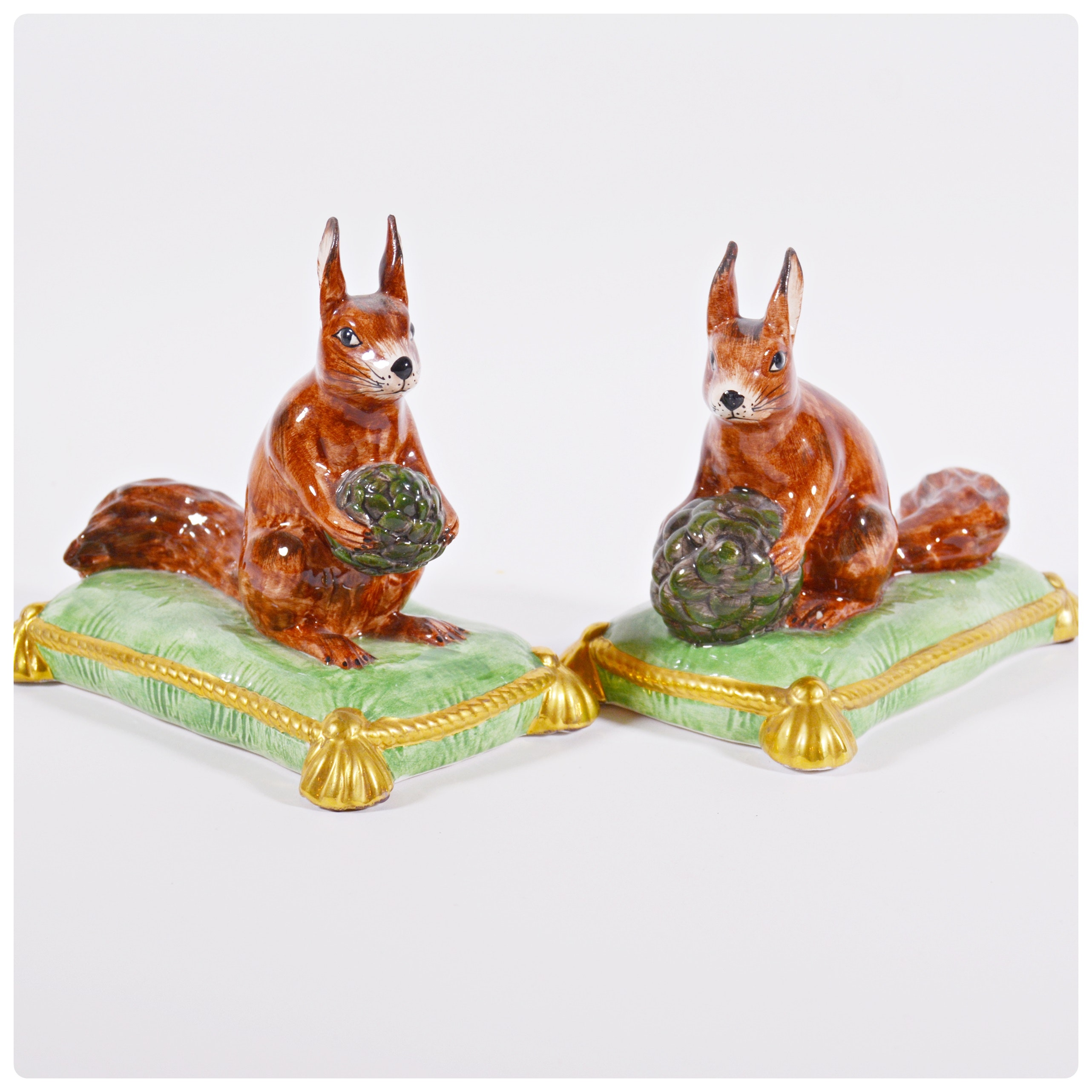 Jeanne Reed's Porcelain Squirrel Figurines