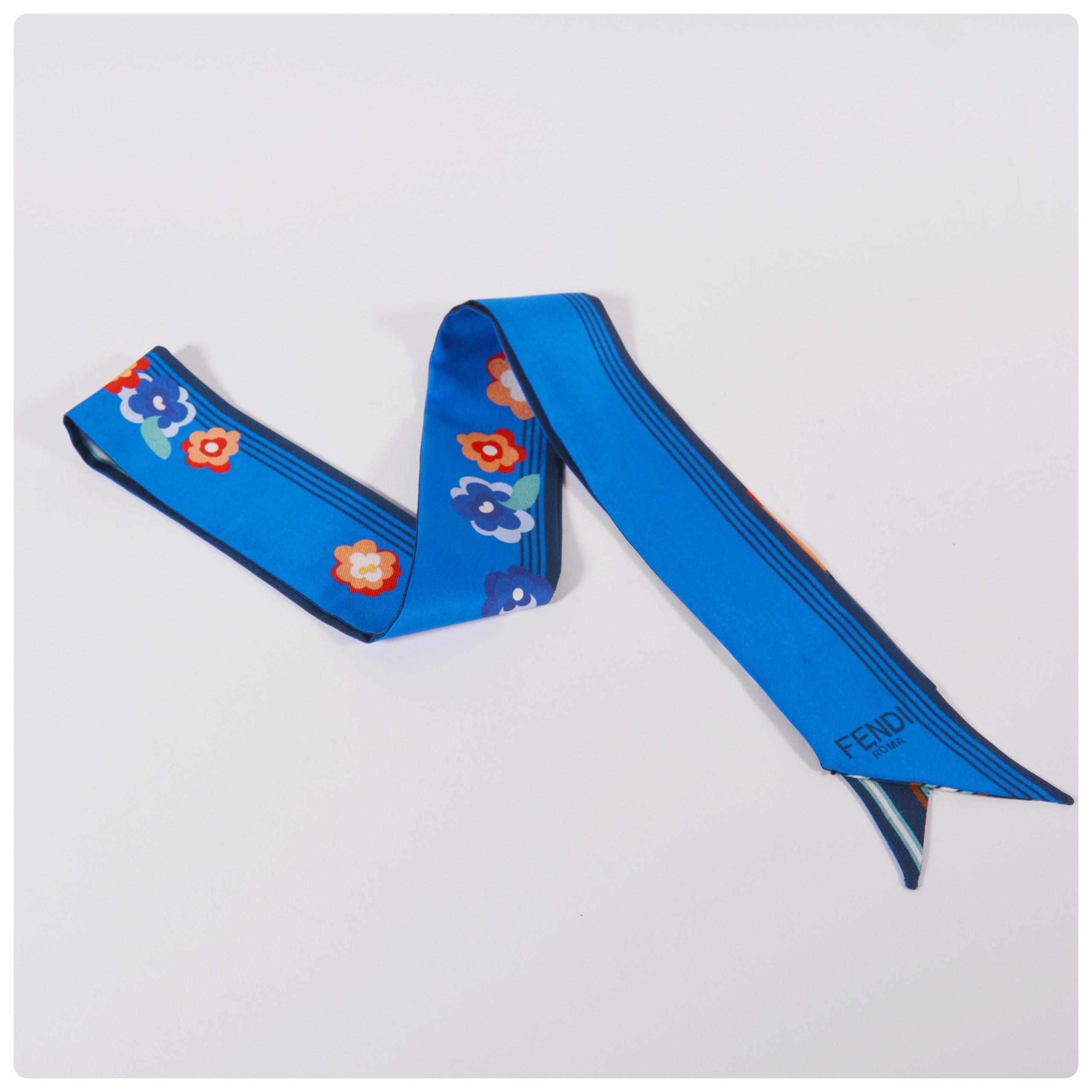 Fendi Two-Sided Silk Bandeau Wrappy