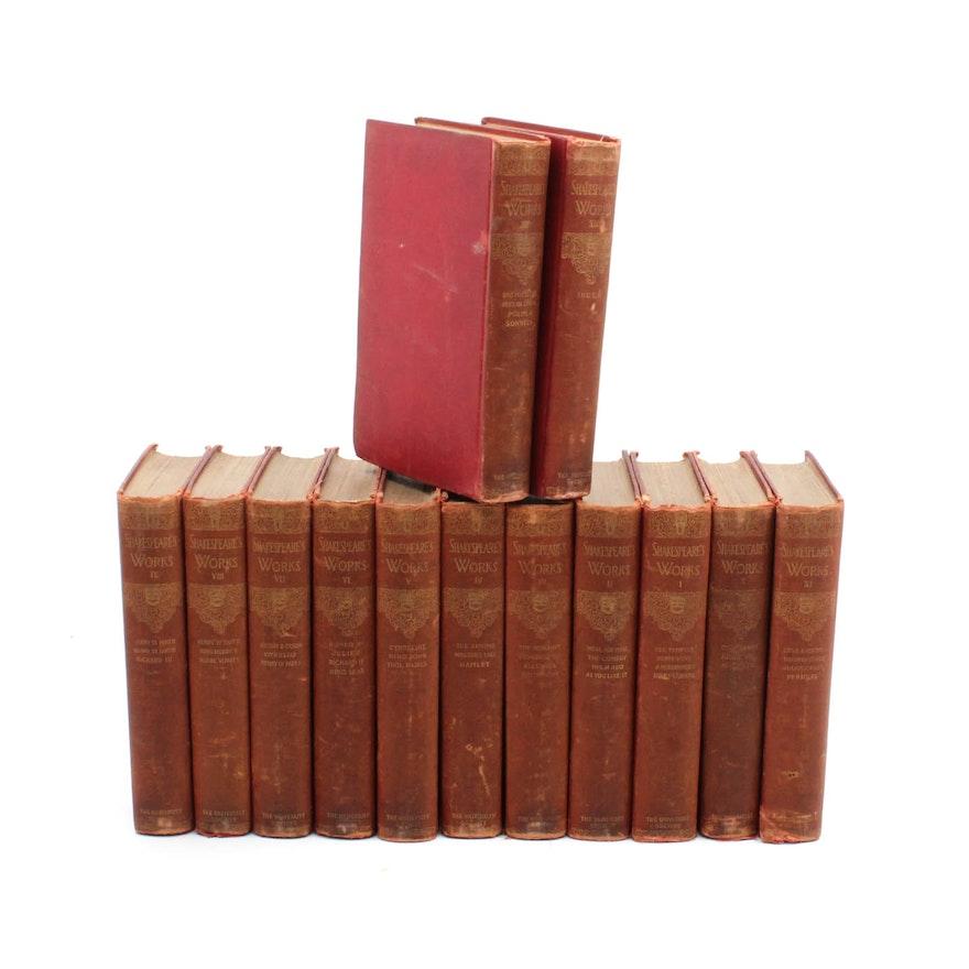 1901 The Complete Works Of William Shakespeare Thirteen Volume Set
