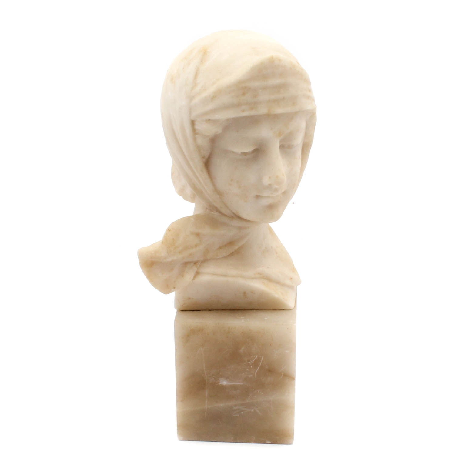 Vintage Marble Bust of Woman