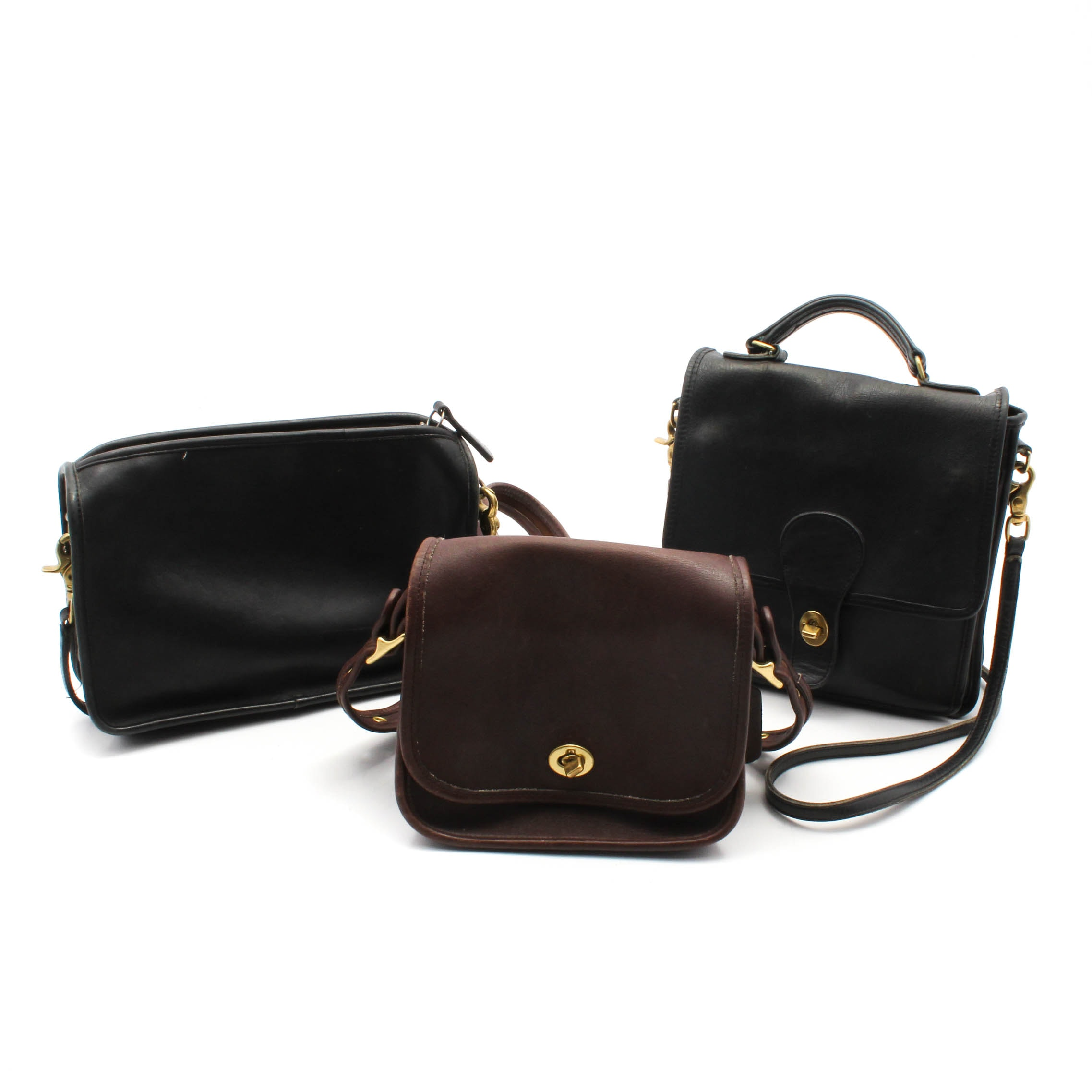Vintage Coach Leather Handbags, Made in United States