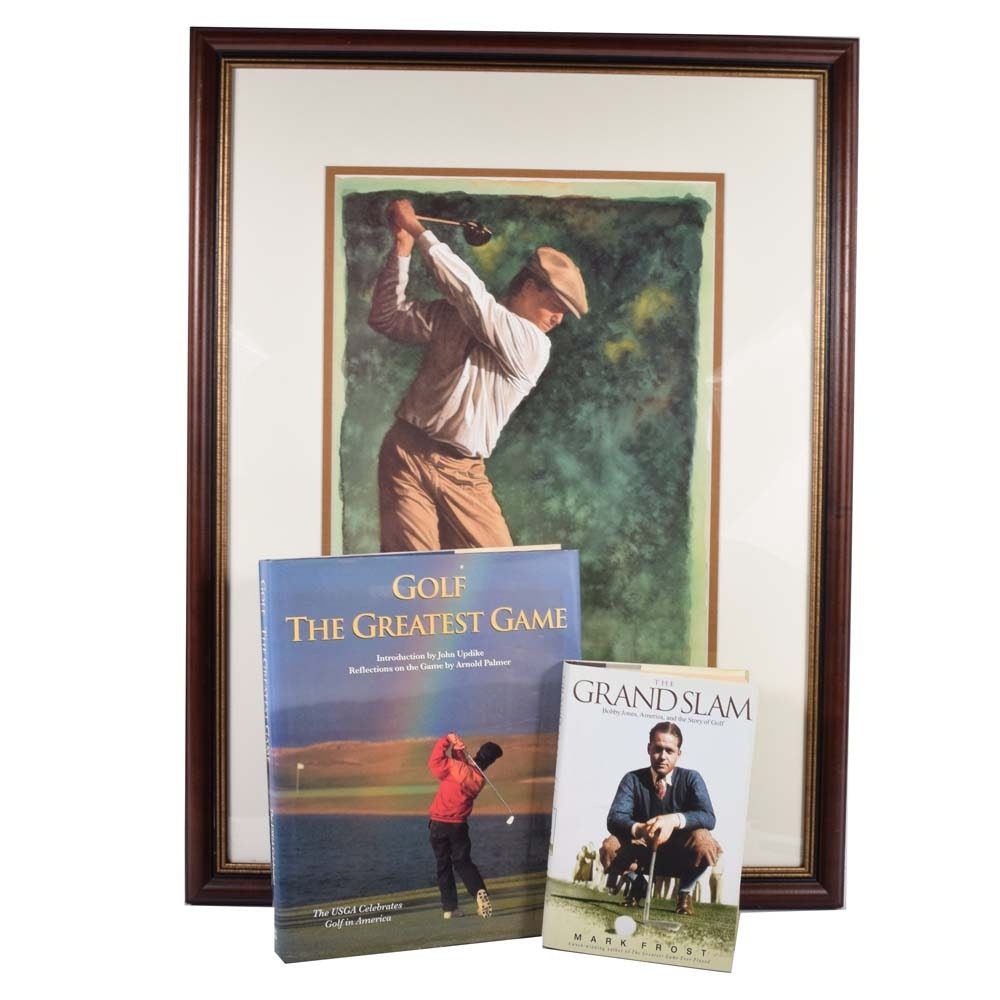 Glen Green Offset Lithograph and First Edition Golf Books