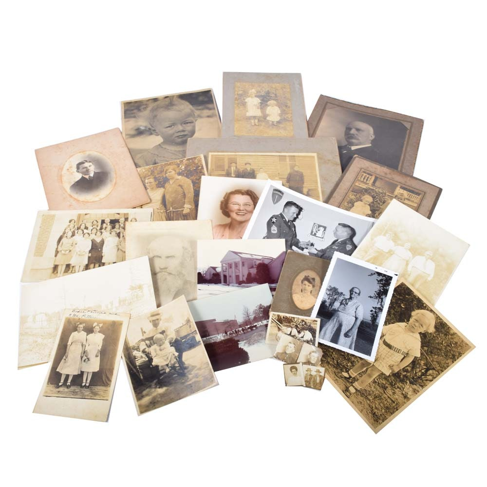 Vintage Silver Gelatin Cabinet Cards and Photographs