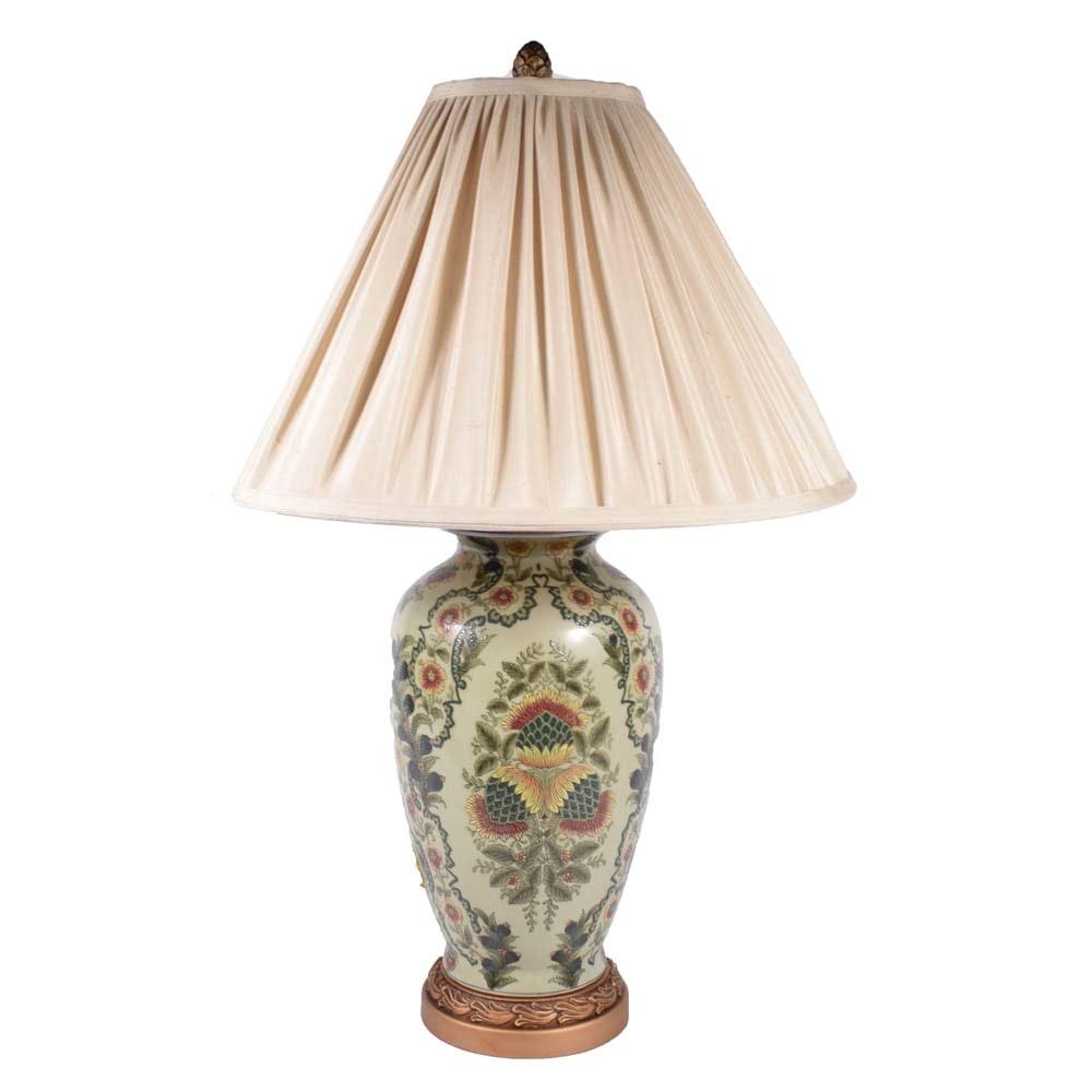 Asian Inspired Ceramic Table Lamp