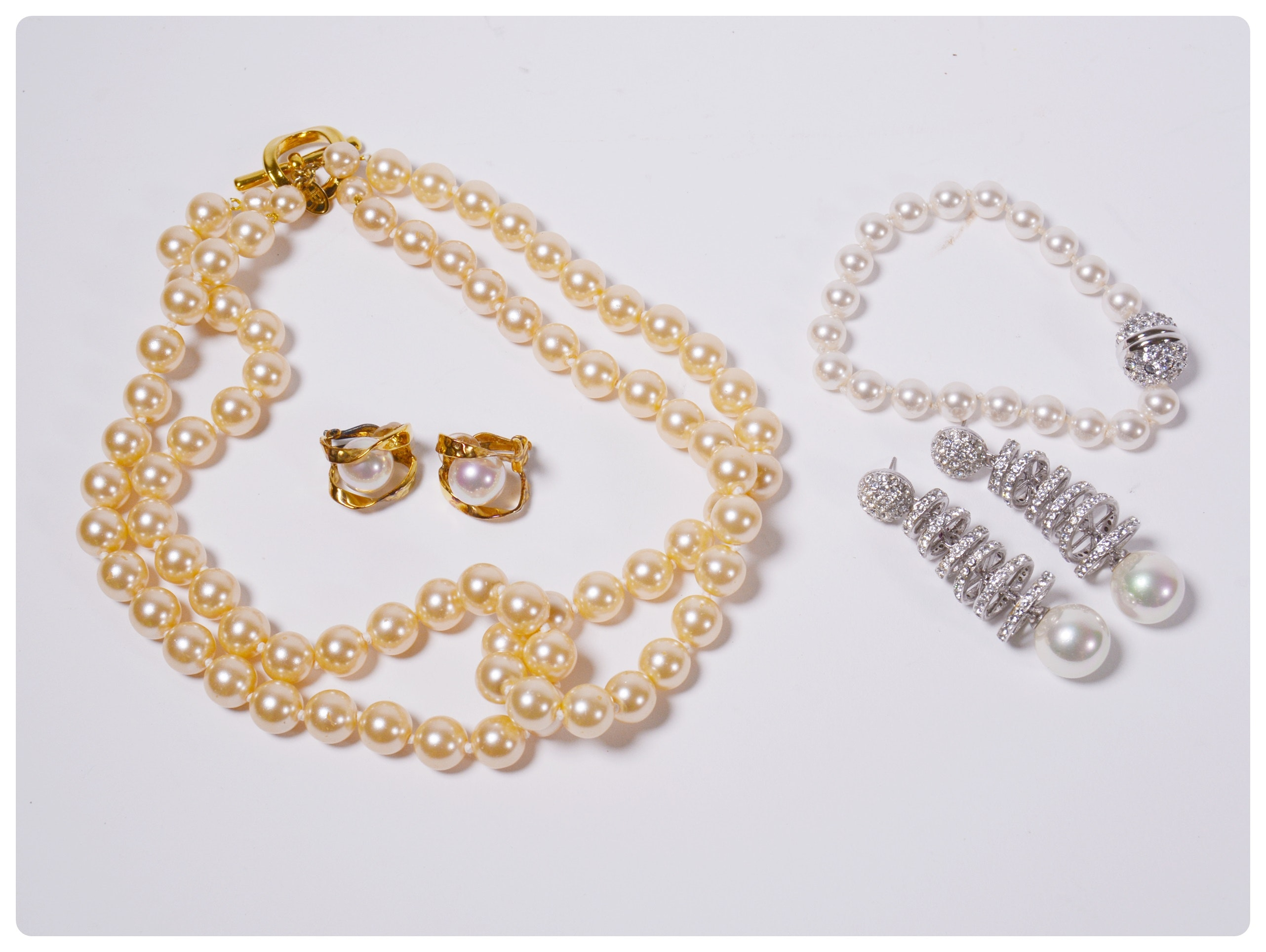 Collection of Faux Pearl Jewelry