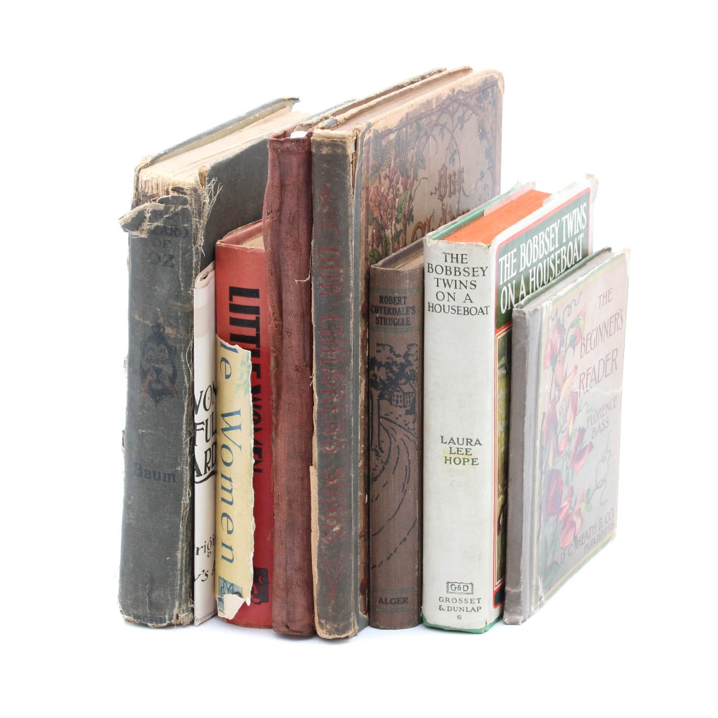 Seven Antique and Vintage Books