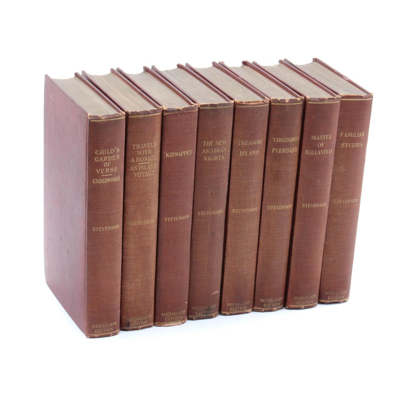 "1910 ""Works of Robert Louis Stevenson"" Eight Volume Set"