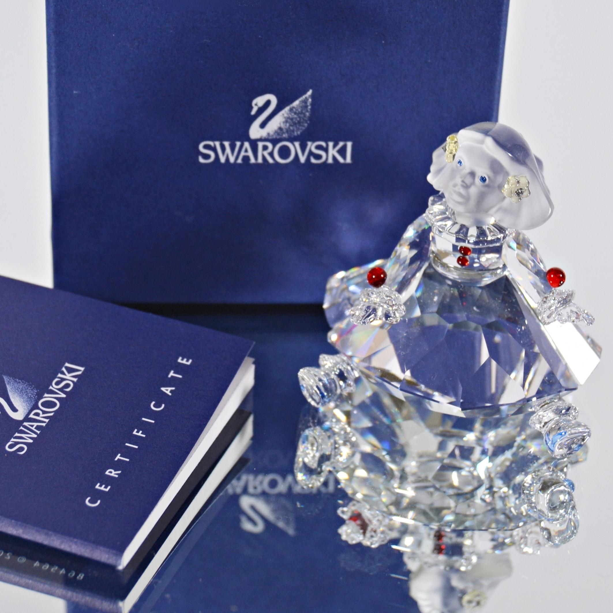 Swarovski Crystal Girl Figurine