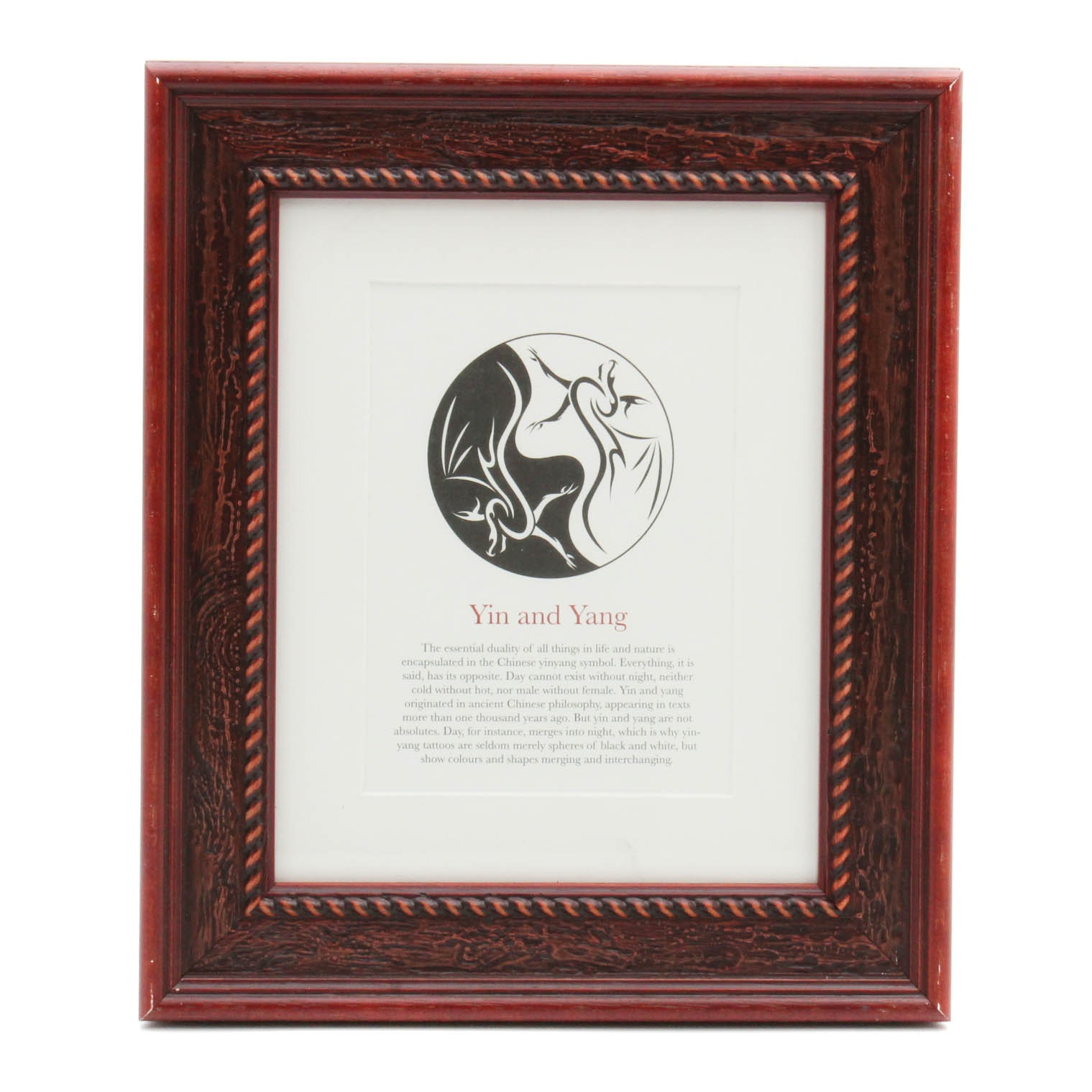 """Offset Print """"Yin and Yang"""" from Jack Watkins """"Tattoos: Symbols and Meanings"""""""